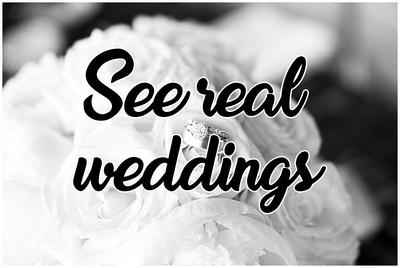 See real weddings