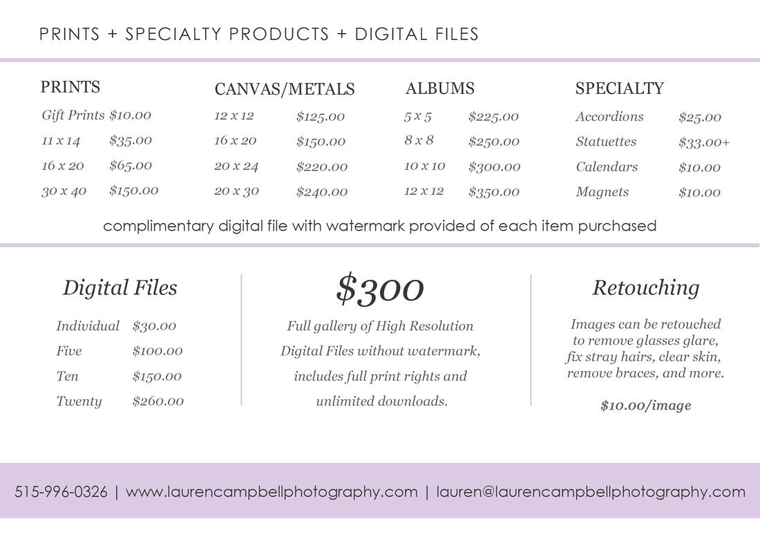 A la cart & Digital files